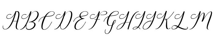HarlandSlantDemo Font UPPERCASE