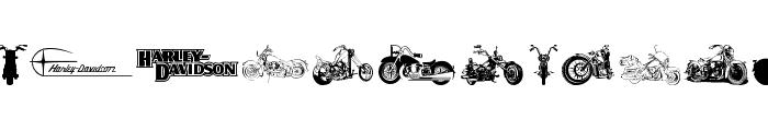 Harley Davidson Font UPPERCASE