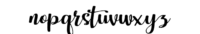 Harley Script Regular Font LOWERCASE