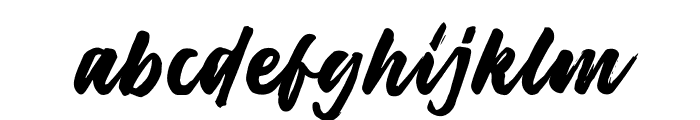 Harligh Brush Font LOWERCASE