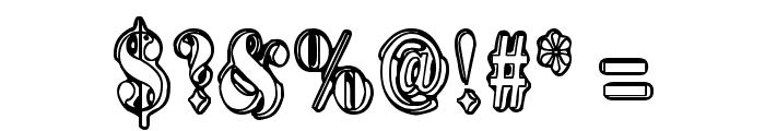 Harmaa Perkele Font OTHER CHARS