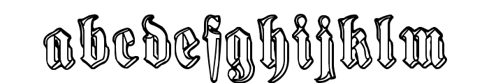Harmaa Perkele Font LOWERCASE