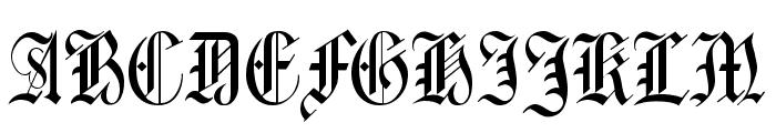Harrowgate Font UPPERCASE