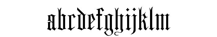 Harrowgate Font LOWERCASE