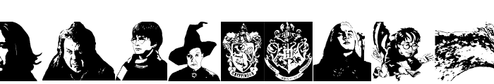 Harry Potter and the Dingbats Font LOWERCASE
