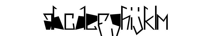Harsh Black Font LOWERCASE