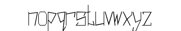 Harsh Regular Font LOWERCASE