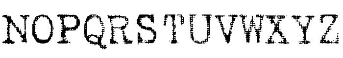 Hartin2 Regular Font UPPERCASE