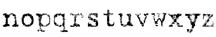 Hartin2 Regular Font LOWERCASE