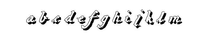 HartzVier-Shadow Font LOWERCASE