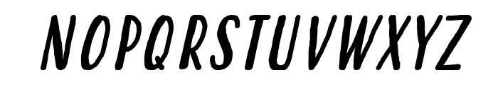 Hastoler Italic Font UPPERCASE