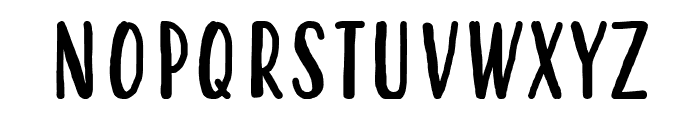 Hastoler Font UPPERCASE