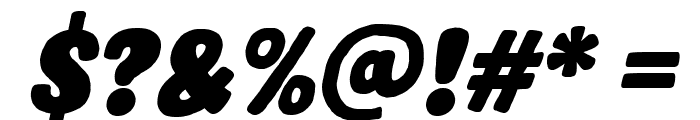 Hastro Italic Font OTHER CHARS