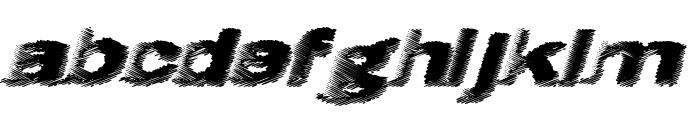 Hatch Font LOWERCASE