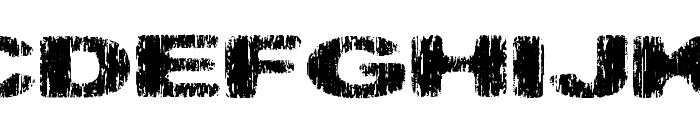 Hatchet Man Font UPPERCASE