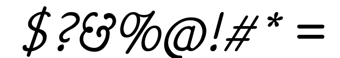 Hattha Italic Font OTHER CHARS
