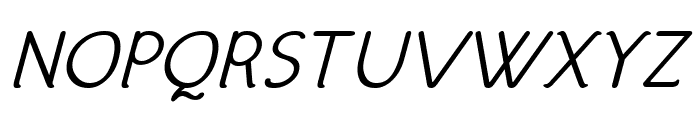Hattha Italic Font UPPERCASE