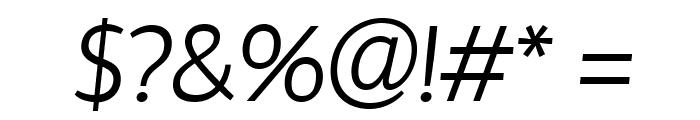Hattori Hanzo Light Italic Font OTHER CHARS