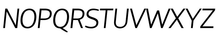 Hattori Hanzo Light Italic Font UPPERCASE
