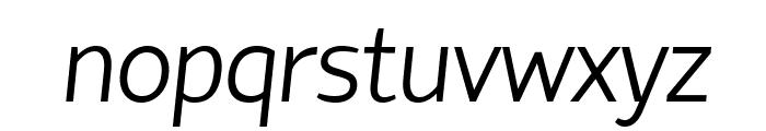 Hattori Hanzo Light Italic Font LOWERCASE