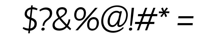 HattoriHanzo-LightItalic Font OTHER CHARS