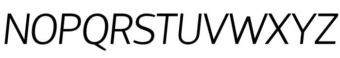 HattoriHanzo-LightItalic Font UPPERCASE