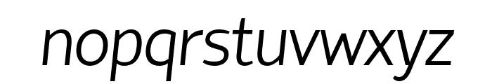 HattoriHanzo-LightItalic Font LOWERCASE