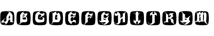 HauntedBricks Font LOWERCASE