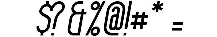 Havana Italic Font OTHER CHARS