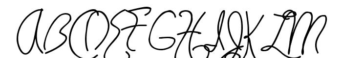 HavingWrit Font UPPERCASE