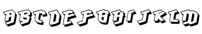 Hawkeye-Regular Font UPPERCASE