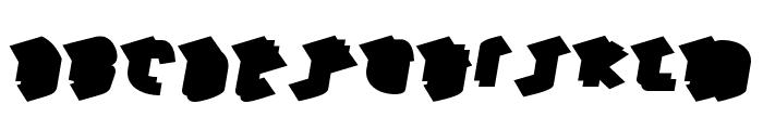HawkeyeBack-Regular Font UPPERCASE
