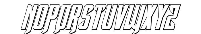 Hawkmoon 3D Italic Font UPPERCASE