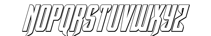 Hawkmoon 3D Italic Font LOWERCASE