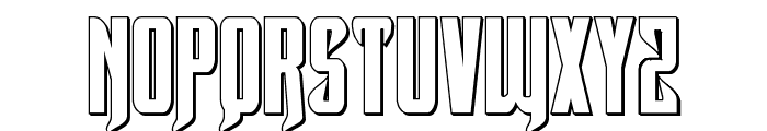 Hawkmoon 3D Regular Font UPPERCASE