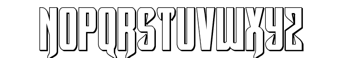 Hawkmoon 3D Regular Font LOWERCASE