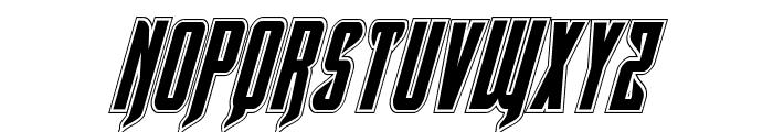 Hawkmoon Academy Italic Font UPPERCASE