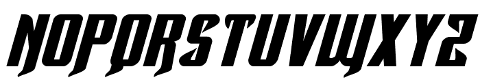Hawkmoon Extra-expanded Italic Font UPPERCASE