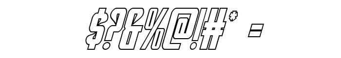 Hawkmoon Shadow Italic Font OTHER CHARS