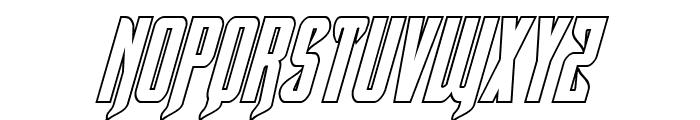 Hawkmoon Shadow Italic Font UPPERCASE