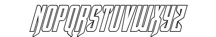 Hawkmoon Shadow Italic Font LOWERCASE
