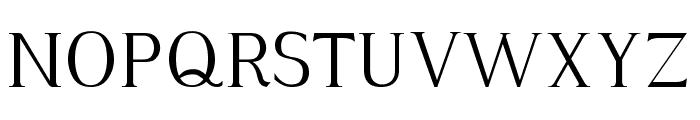 Hayashi-Serif Font UPPERCASE