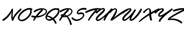 Haydon Brush PERSONAL USE Font UPPERCASE