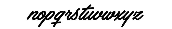 Haydon Brush PERSONAL USE Font LOWERCASE