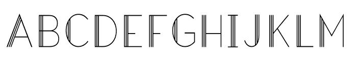 Hazel Deco Light Regular Font UPPERCASE