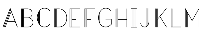 Hazel Deco Light Regular Font LOWERCASE