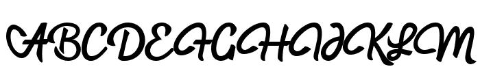 hadfield Font UPPERCASE