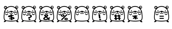 hamu font Font OTHER CHARS