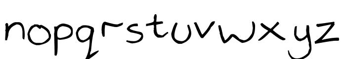handwrited Font LOWERCASE
