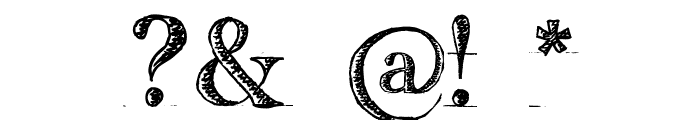 handwriting-draft_free-version Font OTHER CHARS